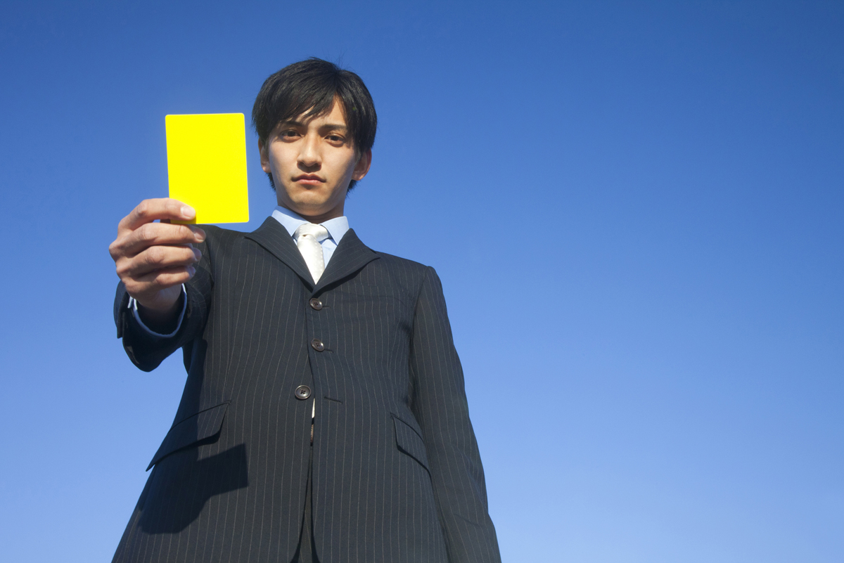 物的損害の請求の注意を教える人のイメージ画像