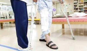 事故に遭って入院