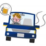 飲酒運転をしてる人のイメージ