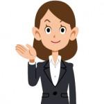 自賠責保険基準について説明する女性のイメージイラスト