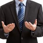 給与所得から休業損害を両手で計算するサラリーマンの画像