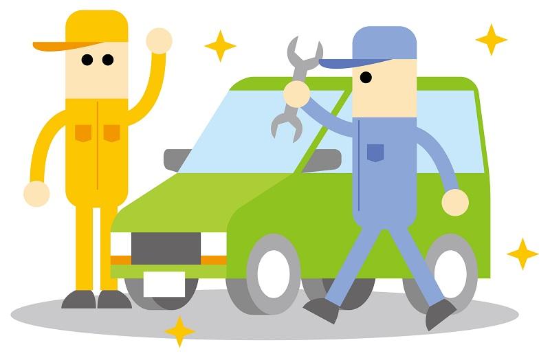 車を修理しているイメージ画像