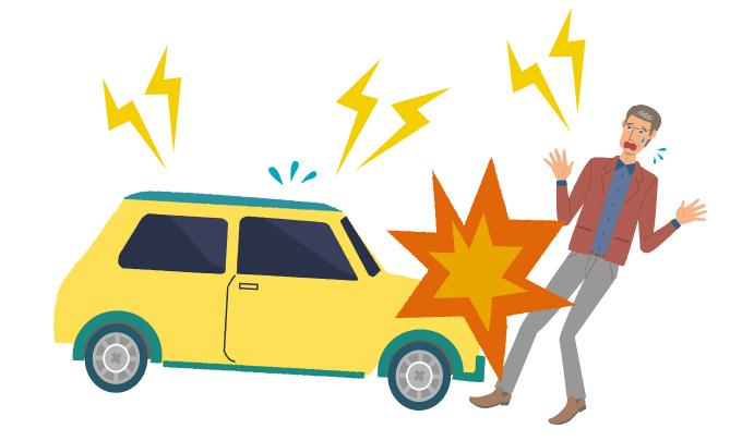車と正面衝突する被害者のイメージ画像