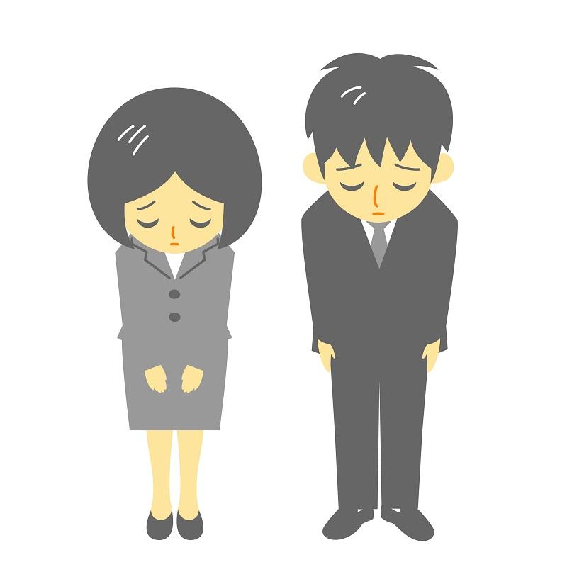 謝罪に来た加害者と保険会社の担当のイメージ画像