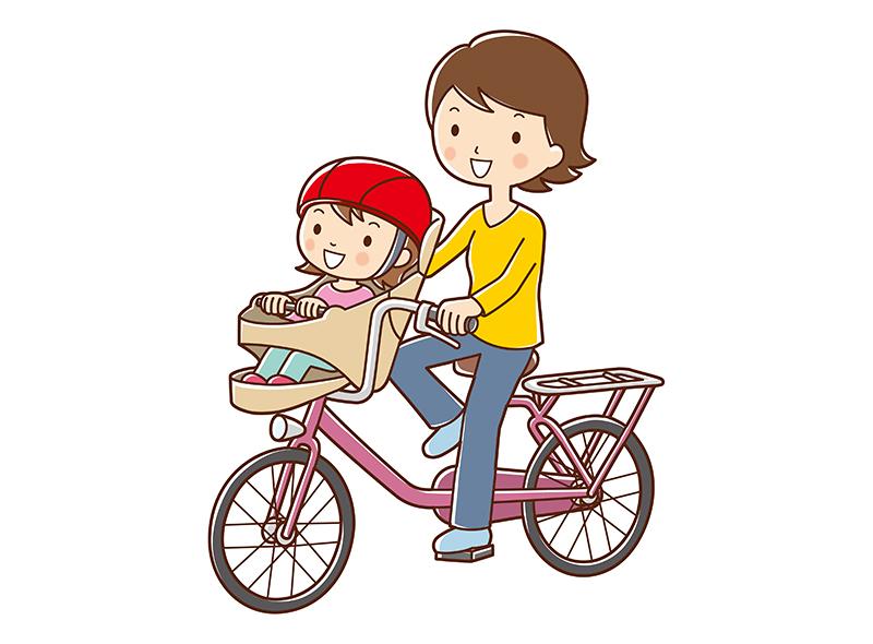 子供を自転車で送った被害者のイメージ画像