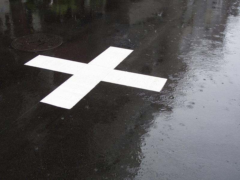 被害者が事故に遭った十字路のイメージ画像