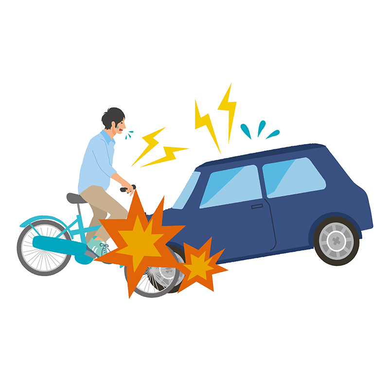 車と衝突する被害者のイメージ画像