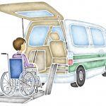 交通事故後、介護車両に乗る車いす生活の被害者のイメージ画像