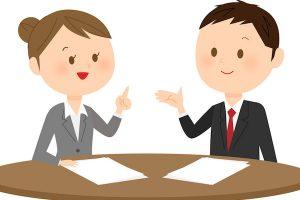 交通事故の被害に関する用語の説明を弁護士から受ける人のイメージイラスト