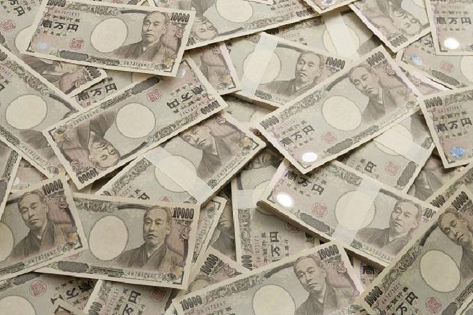 大量のお金(お札)のイメージ画像