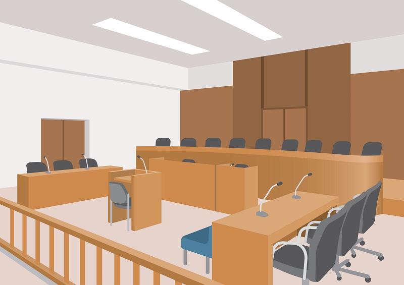 交通事故で訴訟になった時に使われる裁判所のイメージ画像