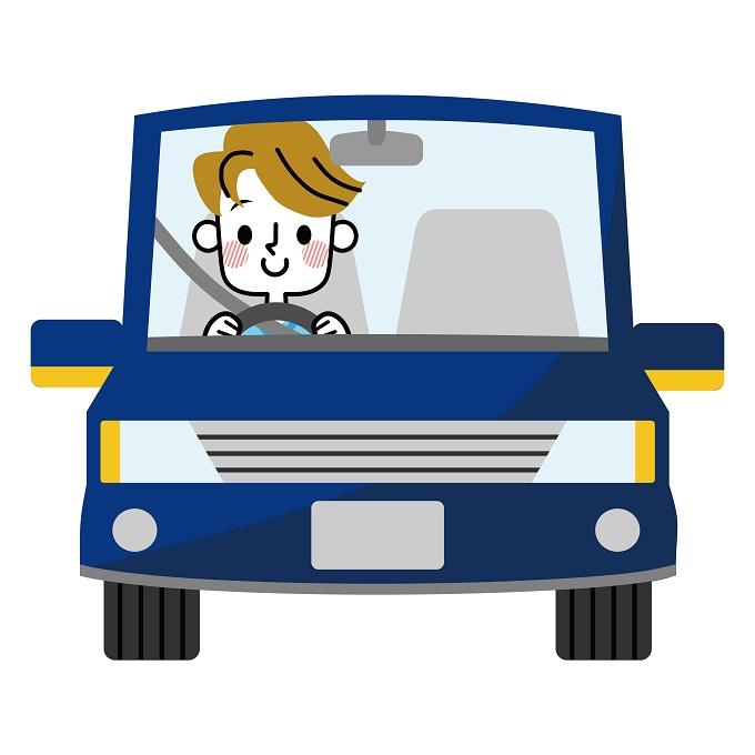 車を運転する男性のイメージ画像