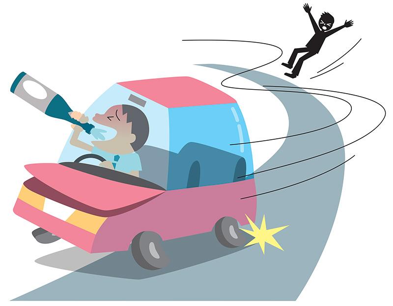 飲酒運転をする加害者のイメージ画像